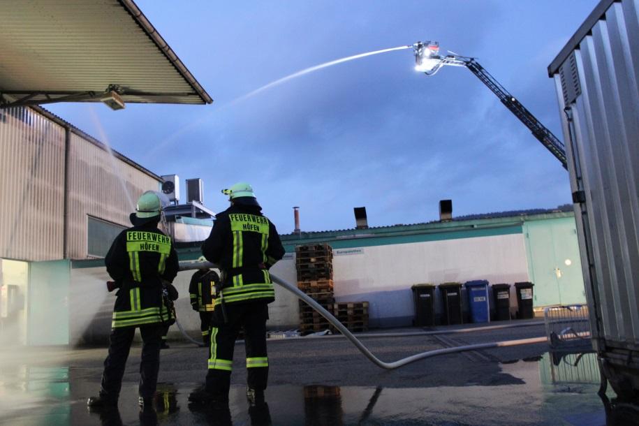 Übung der Freiwilligen Feuerwehr