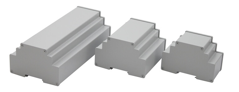 DinRa-AL modular - Hutschienengehäuse aus Aluminium 4,0 -