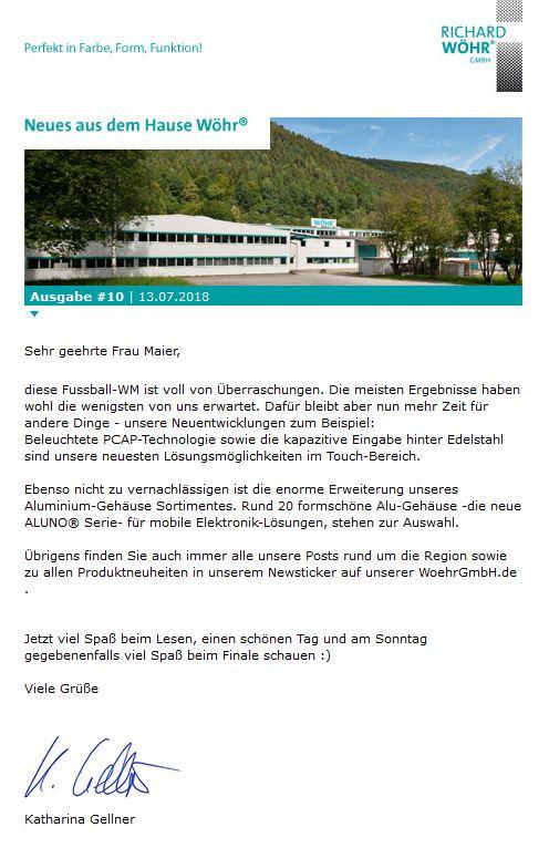 Wöhr Newsletter